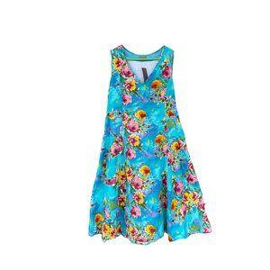 Tulip V-neck Cotton Floral Dress NWT